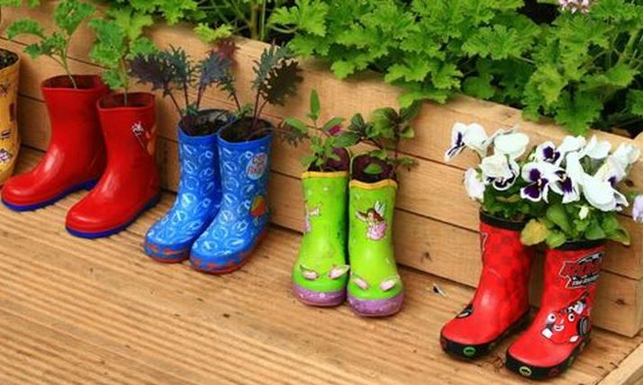 Diy recycle and upcycle for garden landscape