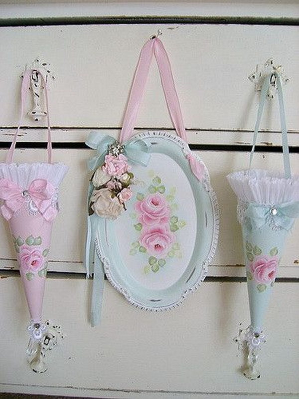 55 Awesome Shabby Chic Decor DIY Ideas  Projects 2017
