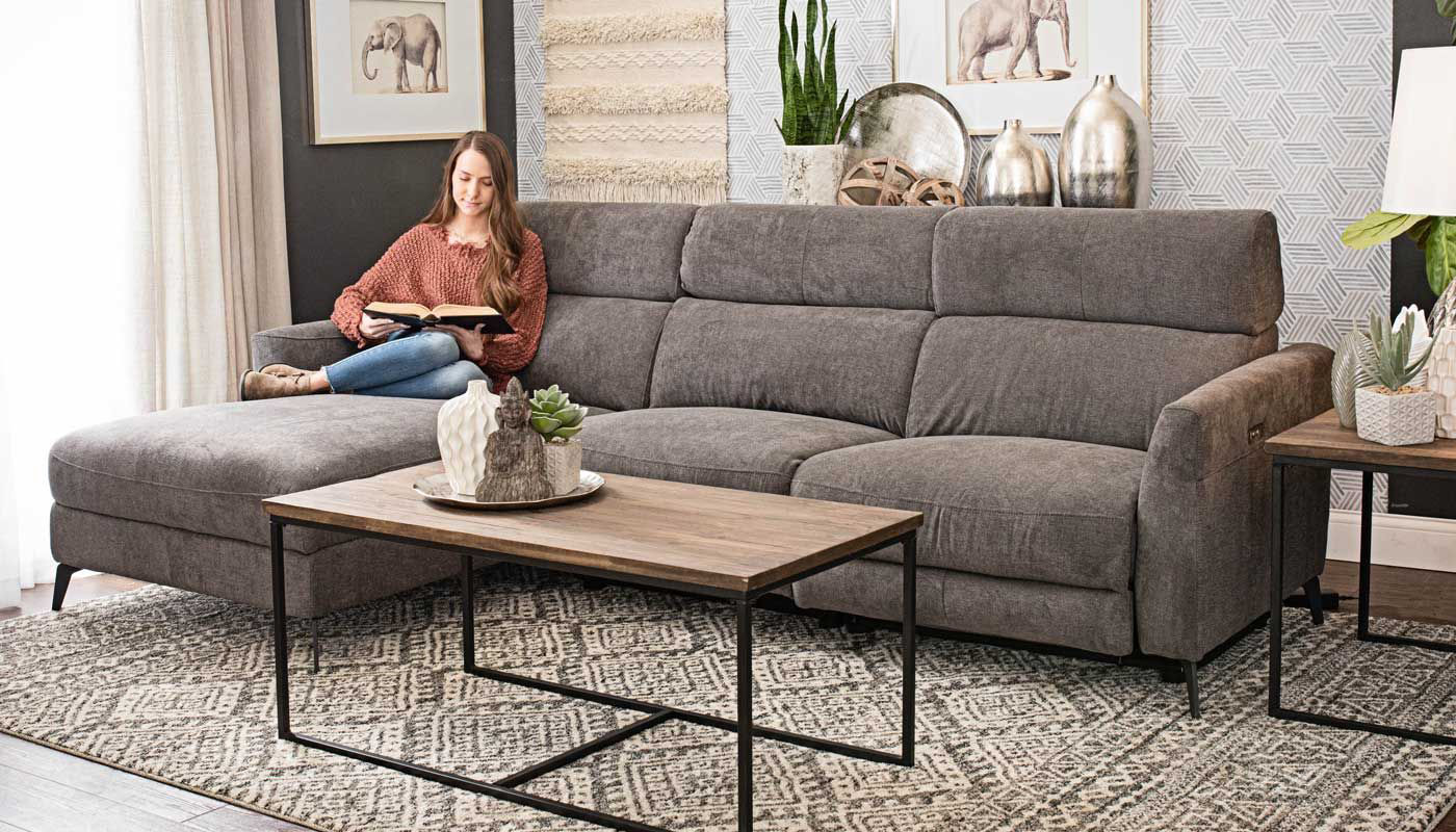 james grey reclining sectional with chaise