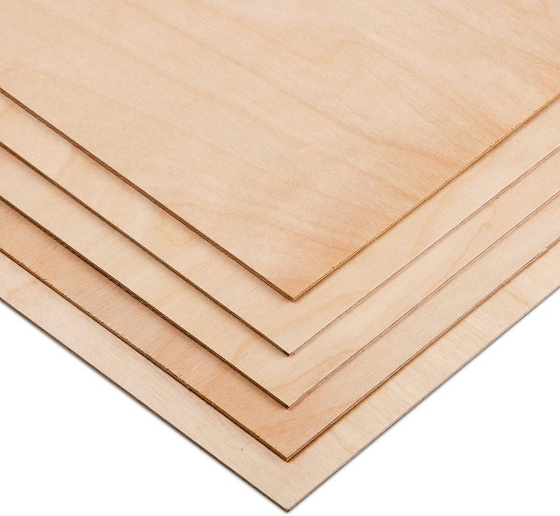 """1.5mm 1/16"""" x 11 x 11 Aircraft Plywood Sheet - AB/B Baltic Birch Material (Package of 5) Perfect for Arts and Crafts, School Projects, Die-Cutting, and Wood Engraving: Amazon.ca: Home & Kitchen"""