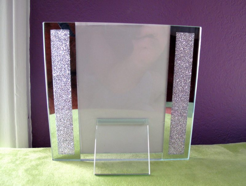 """Brand New! Swarovski Crystal Filled Picture Frame for 4"""" x 6"""" Photo Size"""