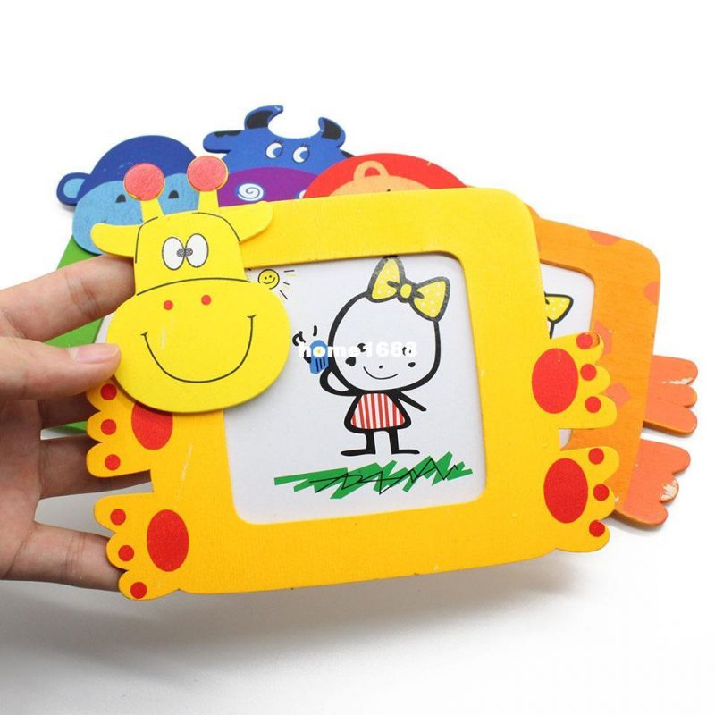 Hot Sale! Novelty Magic Wood Wooden Children Baby Small Cartoon Photo Frames With The Holder Picture Frame Decor Designs Decor For Home From Home1688, $8.81| DHgate.Com