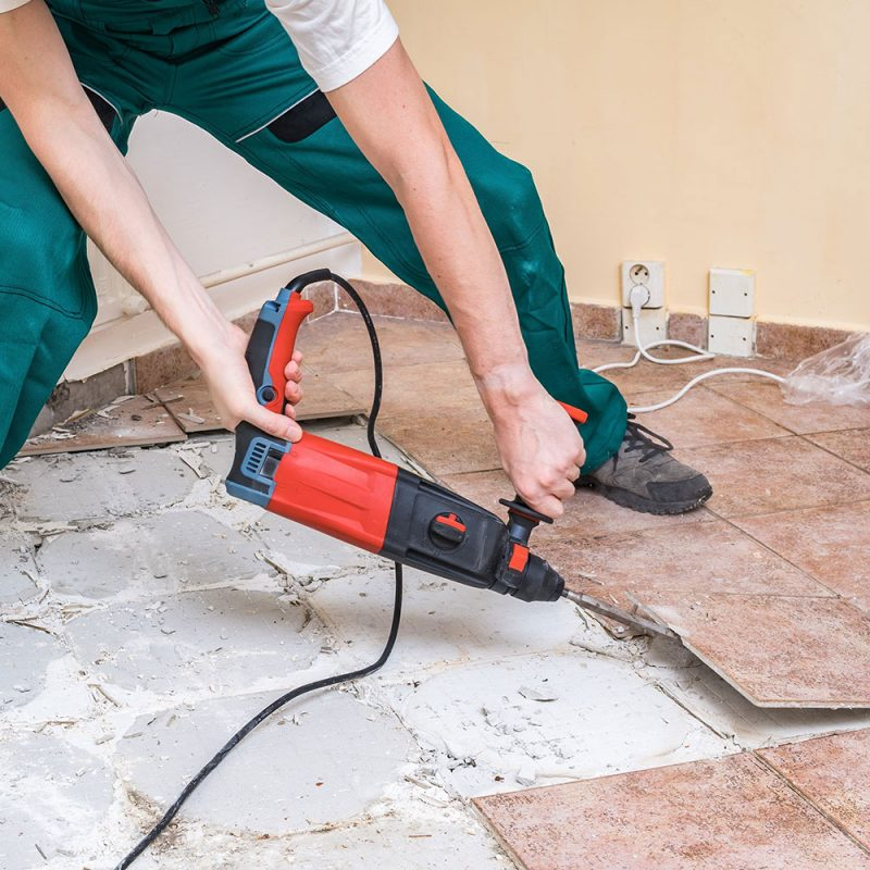 How to remove bathroom tile and not make a big mess