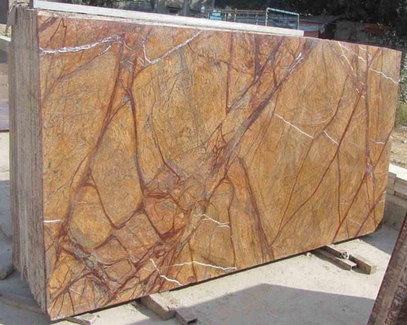 Rain Forest Brown Standard Gangsaw Size Marble Slab 30mm | Ostabay