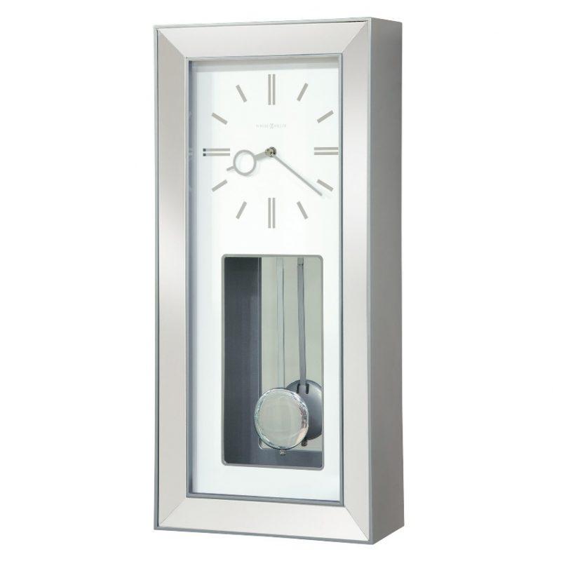 Shop Howard Miller Chaz Chrome Chiming Wall Clock - Overstock - 22819940