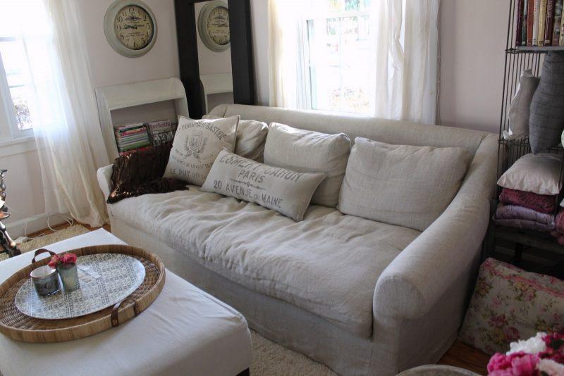 The Navarre Charm Company: The Belgian Roll Arm Sofa