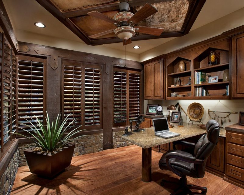 10 Perfect Home Office Design Ideas To Make You Comfortable - Decor It's | Rustic  home offices, Small office decor, Home office design