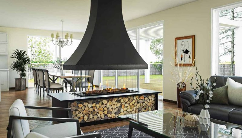 5 Reasons to Choose a Curved or Island Fireplace for Your Contemporary  House Design