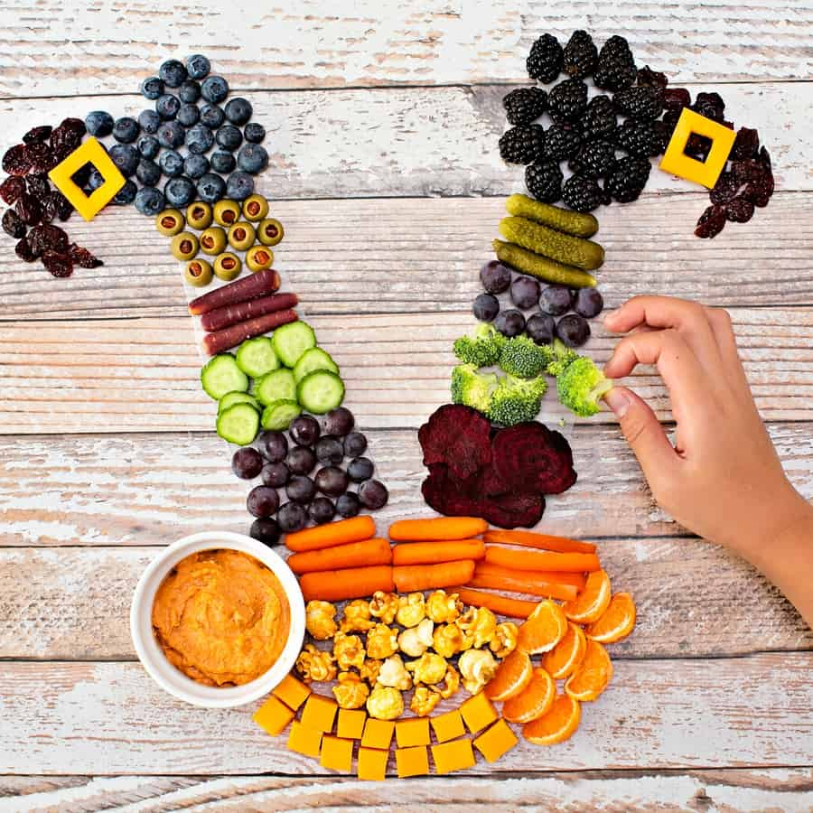 Halloween Witch Fruit and Veggie Snack Tray - helloyummy