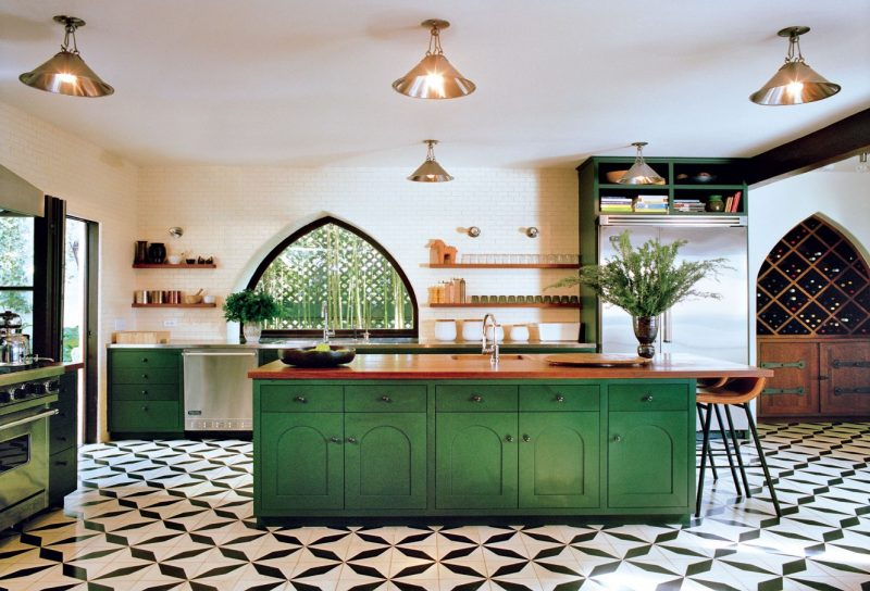 Best Kitchens Photographed in Vogue | Green kitchen decor, Interior design kitchen, Green kitchen cabinets