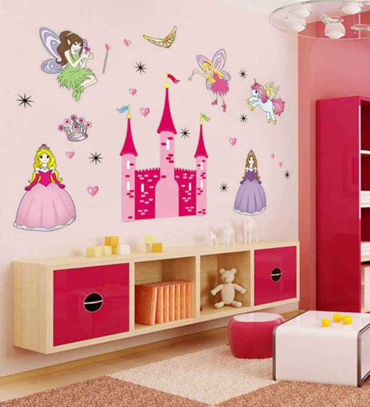 Buy Angel Castle Princess Fairy Wall Stickers for Kids Room Wall Sticker by  Print Mantras Online - Kids Wall Stickers - Kids Furniture - Kids Furniture  - Pepperfry Product