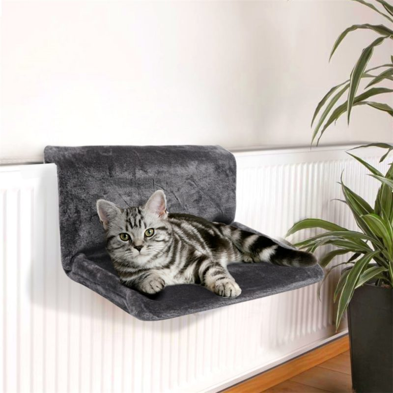 Cat Hammock Cage Radiator Window Bed House Lounger Bearings Cushion  Adjustable Warm Shelf Perch Seat Cover for Kitten Small Pets|Cat Beds &  Mats| - AliExpress
