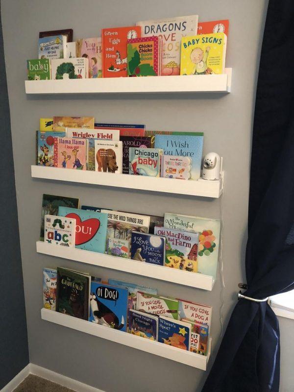 Floating Shelves, Children's Bookshelves, Picture Rail, Shelving Solutions, Nursery  Wall Shelf - FREE Shipping! in 2020   Childrens book shelves, Nursery wall  shelf, Bookshelves kids