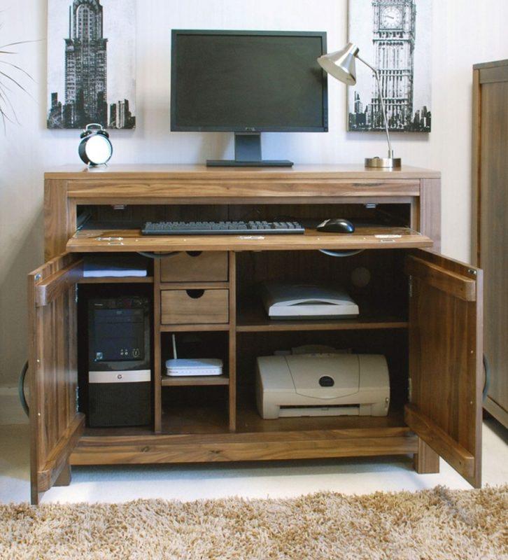 Hidden computer desk for ergonomics and convenience | Best Laptop Tables & Desks | Hideaway computer desk, Office furniture sale, Home office storage