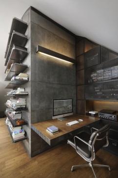 Loft 9b by Dimitar Karanikolov   Home office design, Interior architecture  design, Loft design