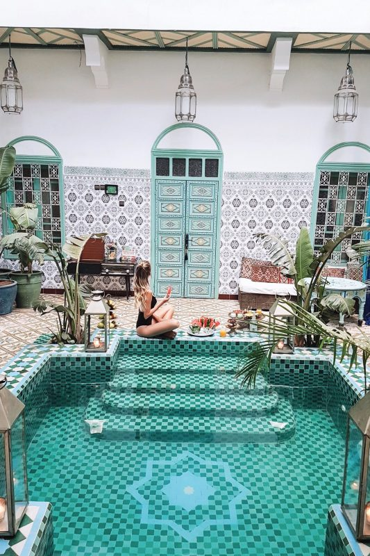 Marrakech travelguide - leonie hanne – haute couture | Swimming pools, The places youll go, Pool