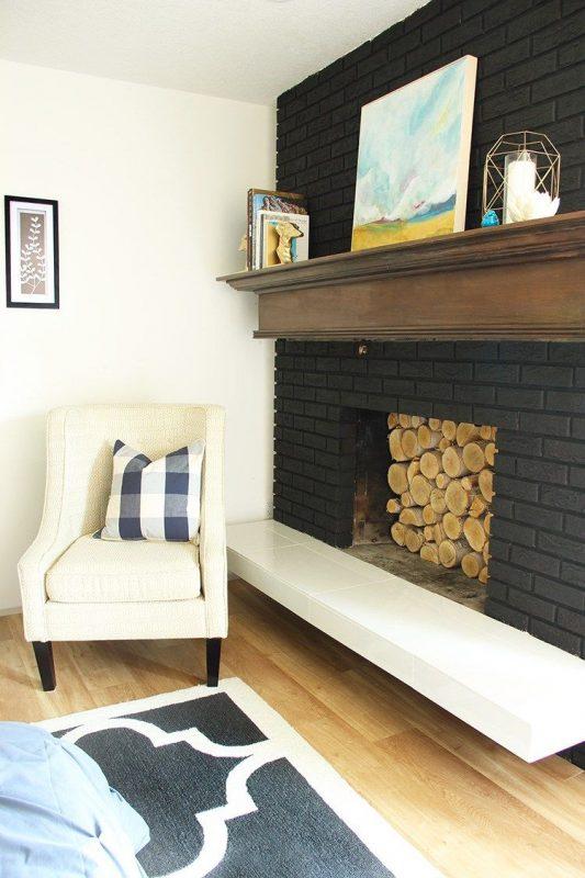 Painted Brick Fireplace - Fresh Crush | Painted brick fireplaces, Brick  fireplace, Painted brick fireplace