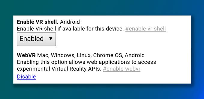 Chrome WebVR