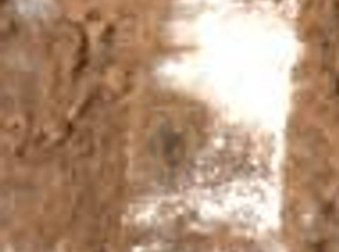 zoom in on trench with ice on Mars