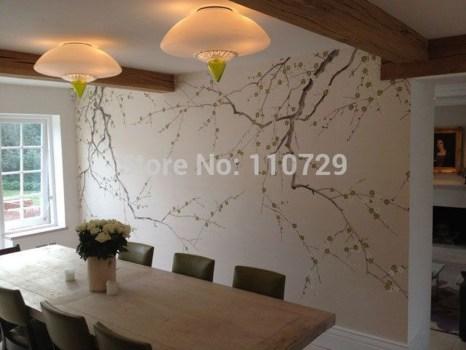 Amazing Painting Wallpaper On Livingroom 09