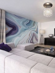 Amazing Painting Wallpaper On Livingroom 25