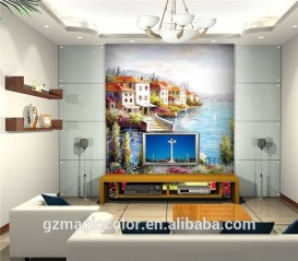 Amazing Painting Wallpaper On Livingroom 27