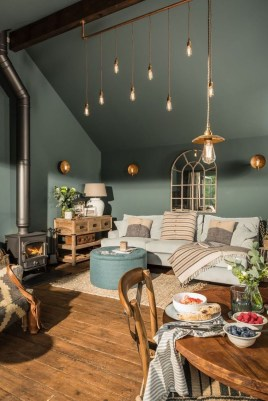 Cozy Green Livingroom Ideas 18