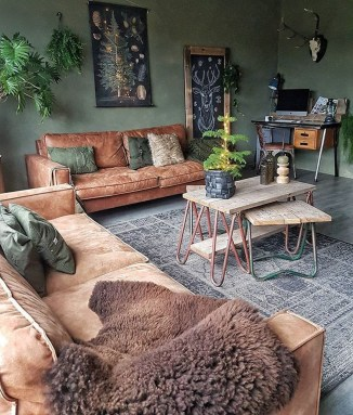 Cozy Green Livingroom Ideas 32