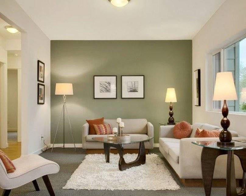 Cozy Green Livingroom Ideas 45