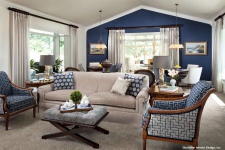Lovely Blue Livigroom Ideas 15