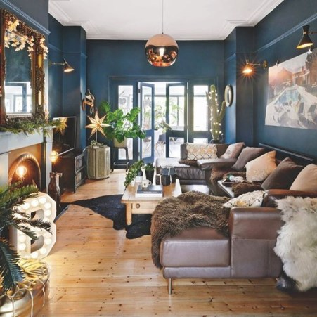 Lovely Blue Livigroom Ideas 16
