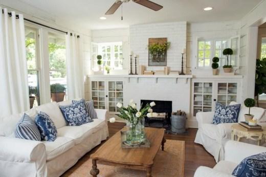 Lovely Blue Livigroom Ideas 24