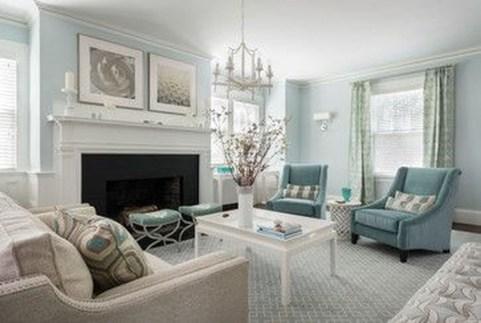 Lovely Blue Livigroom Ideas 34
