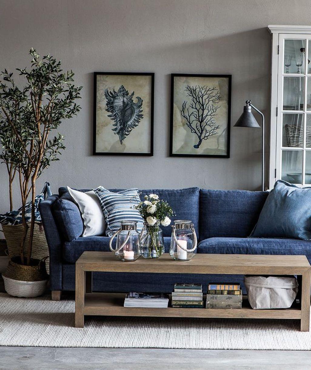 Lovely Blue Livigroom Ideas 40