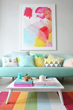 Lovely Colourful Sofa Ideas 23