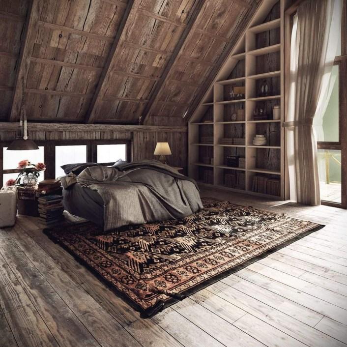 Unique Wooden Attic Ideas 15