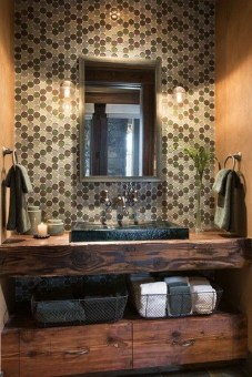 Awesome Country Mirror Bathroom Decor Ideas 13