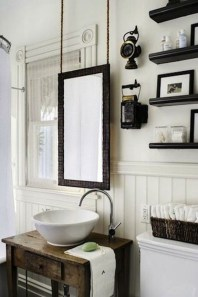 Awesome Country Mirror Bathroom Decor Ideas 27