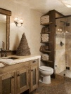 Awesome Country Mirror Bathroom Decor Ideas 43