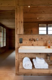 Cozy Wooden Bathroom Designs Ideas 03