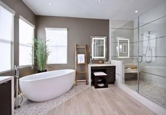 Cozy Wooden Bathroom Designs Ideas 31