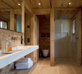 Cozy Wooden Bathroom Designs Ideas 44