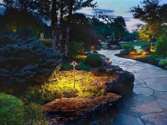Fantastic Rustic Garden Light Landscaping Ideas 15