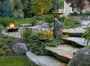 Fantastic Rustic Garden Light Landscaping Ideas 20