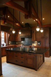 Gorgeous Rustic Country Style Kitchen Made By Wood 04