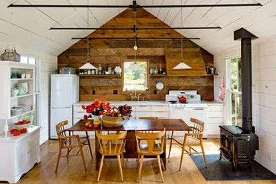 Gorgeous Rustic Country Style Kitchen Made By Wood 16