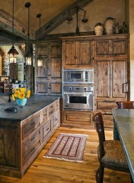 Gorgeous Rustic Country Style Kitchen Made By Wood 20