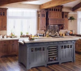 Gorgeous Rustic Country Style Kitchen Made By Wood 38