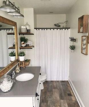 Inspiring Rustic Small Bathroom Wood Decor Design 26