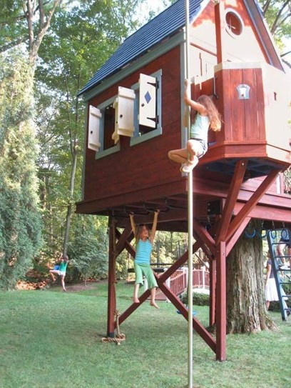 Inspiring Simple Diy Treehouse Kids Play Ideas 10